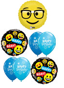 Emoticon Emoji Nerd Birthday Balloon Bouquet