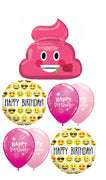Emoticon Emoji Pink Poop Birthday Balloon Bouquet