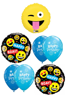 Emoticon Emoji Wacky Birthday Balloon Bouquet