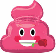 Emoticon Emoji Pink Poop Foil Balloon