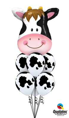 Farm Cow Balloon Bouquet 2
