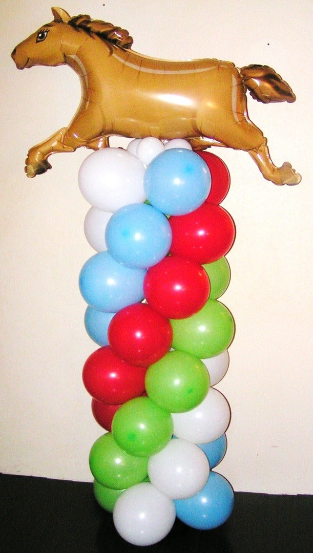 Farm Horse Balloon Column