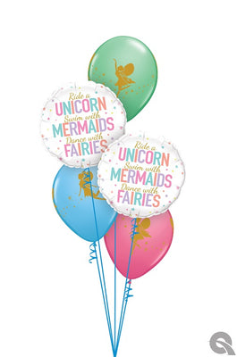 Fairies Mermaids Unicorns Balloon Bouquet
