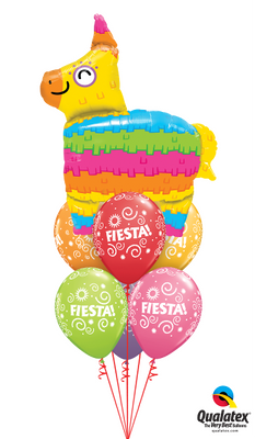 Fiesta Pinata Rainbow Balloon Bouquet 1