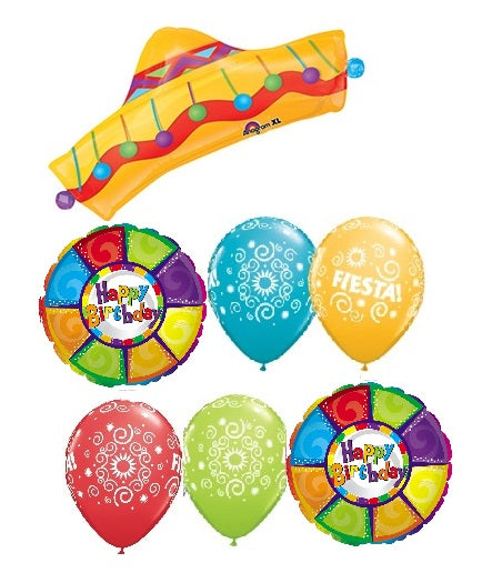 Fiesta Sombrero Birthday Balloon Bouquet
