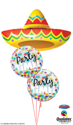 Fiesta Sombrero Party Time Balloon Bouquet