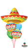 Fiesta Sombrero Rainbow Stripes Dots Balloon Bouquet