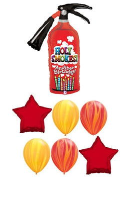 Fire Extinguisher Birthday Balloon Bouquet