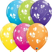 Flying Bees and Hearts Assortment Balloons