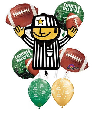 Football Referee Touchdown Birthday Balloon Bouquet