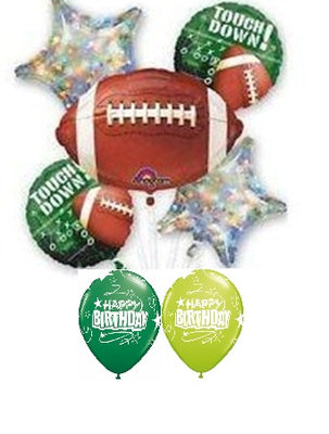 Football Touchdown Birthday Balloon Bouquet