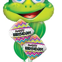 Frog Birthday Balloon Bouquet