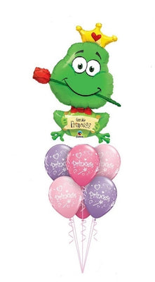 Frog Prince Kiss Me Princess Balloon Bouquet