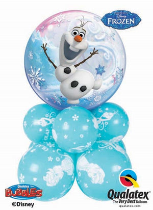 Frozen Olaf Bubble Balloon Centerpiece 1