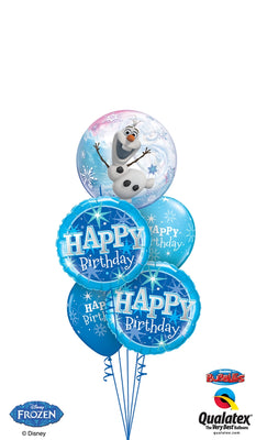 Frozen Bubbles Olaf Birthday Balloon Bouquet 9