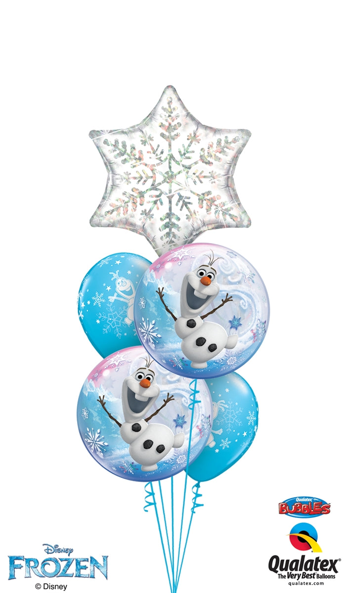 Frozen Bubbles Olaf Snowflake Balloon Bouquet 8