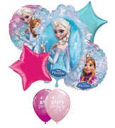 Frozen Elsa Birthday Balloon Bouquet 11