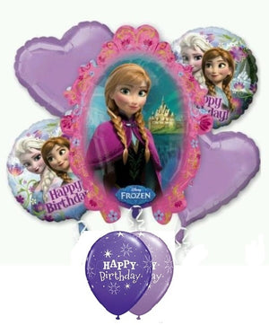Frozen Anna Birthday Balloon Bouquet 11