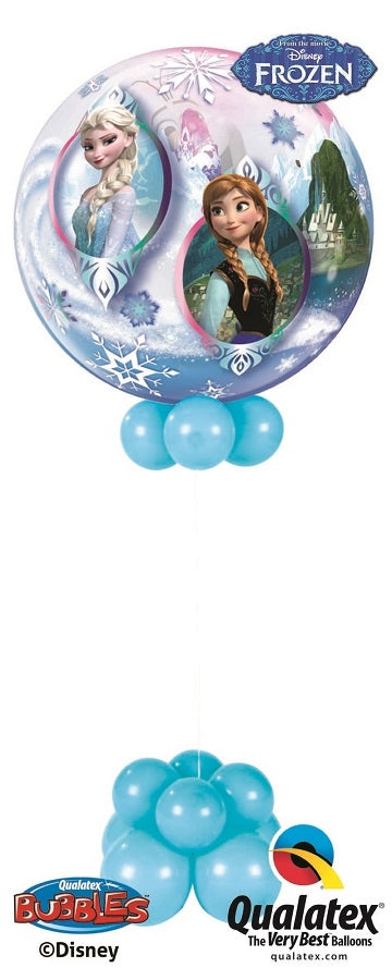 Frozen Anna Elsa Bubble Balloon Centerpiece 2