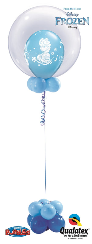 Frozen Elsa Bubble Balloon Centerpiece 4