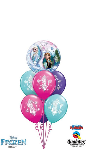 Frozen Bubble Elsa and Anna Balloon Bouquet 5