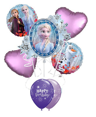Frozen 2 Elsa Hearts Birthday Balloon Bouquet