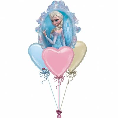 Frozen Disney Hearts Balloon Bouquet