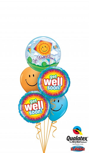 Get Well Kites Balloons Bouquet