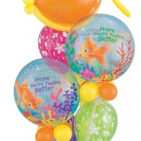 Get Well Fish Bubbles Balloon Bouquet 2