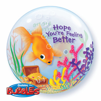 Get Well I Hope You Are Feeling Better Bubbles Balloon