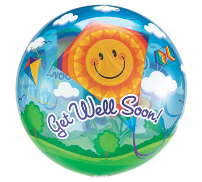 Get Well Kites Bubbles Balloon