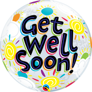 Get Well Soon Sunny Days Bubbles Balloon