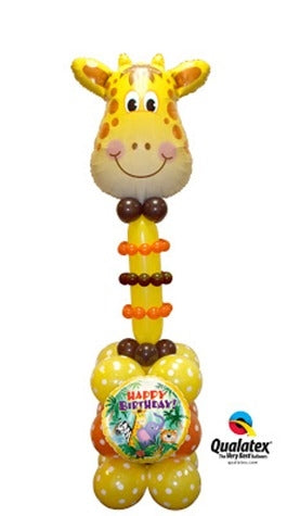 Giraffe Birthday Balloon Stand Up 3