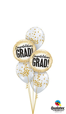 Graduation Congratulations Grad Balloon Bouquet of 7