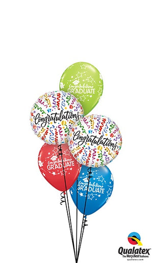 Graduation Congratulations Wavy Lines Balloon Bouquet