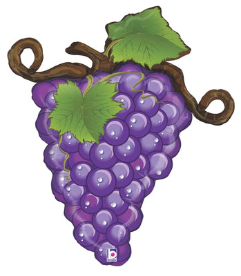 Purple Grapes Linky Shape 31 inch Helium Foil Balloons