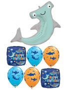 Hammerhead Shark Happy Birthday Balloon Bouquet