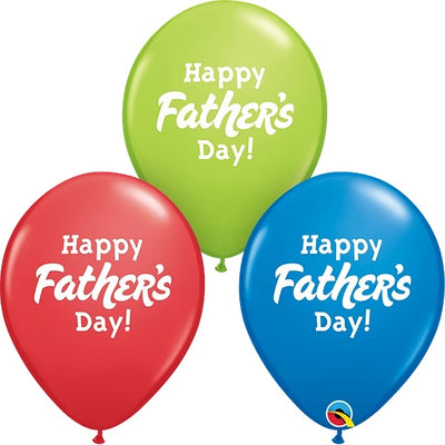 Happy Fathers Day 11 inch Latex Helium Balloons