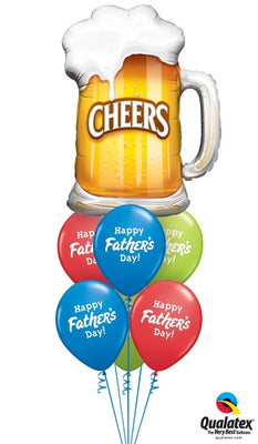 Happy Fathers Day Cheers Beer Balloon Bouquet