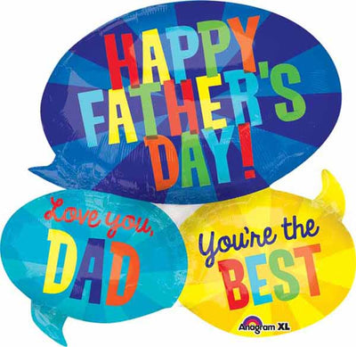 Happy Fathers Day Messages 26 inch Foil Balloons