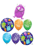 Happy Little Monsters Birthday Balloon Bouquet