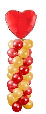 Heart Balloon Tower Column