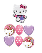 Hello Kitty Birthday Dots Balloon Bouquet