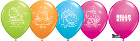 Hello Kitty 11 inch Colourful Printed Latex Balloons