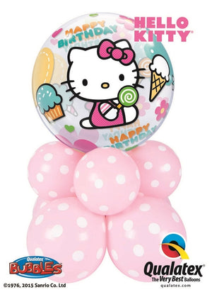 Hello Kitty Bubbles Birthday Balloon Centerpiece
