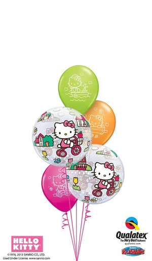 Hello Kitty Bubbles Colourful Balloon Bouquet