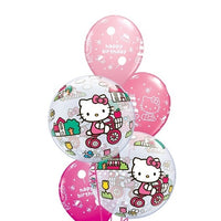 Hello Kitty Bubbles Happy Birthday Balloon Bouquet