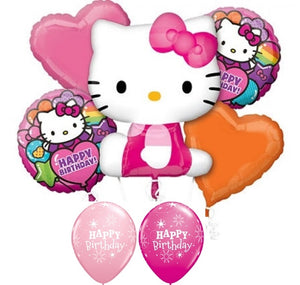 Hello Kitty Pink Birthday Balloon Bouquet