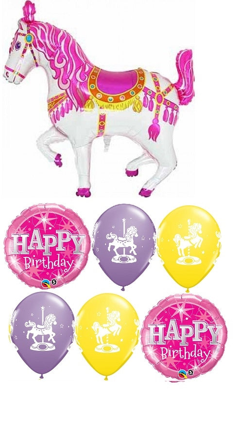 Carousel Horse Birthday Balloon Bouquet 4