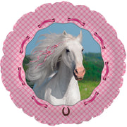 Horse Pink 18 inch Mylar Foil Balloons